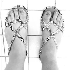 Snakeskin print Sandals